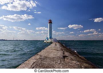Vorontsov lighthouse in Odessa - Old Vorontsov lighthouse in...