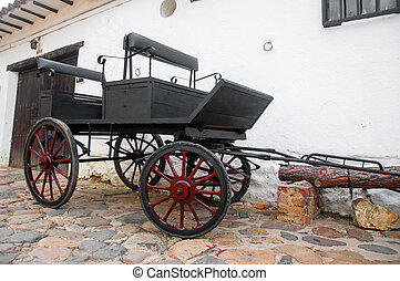Old Wagon in Colonial Town
