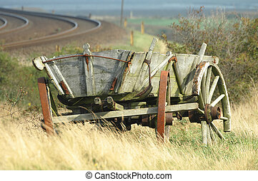 Old wagon - old wagon by the railtracks