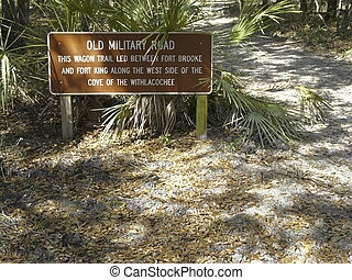 An old wagon trail between Fort Brooke and Fort King in Fort Cooper State Park, Inverness, Florida, was significant in the Second Seminole War.