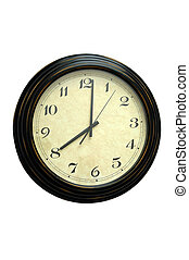 Old Wall Clock - Antique Station Masters Clock