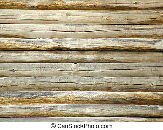 Old wall from wooden logs