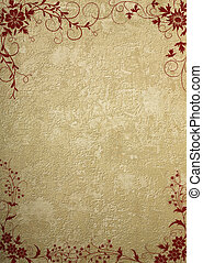 old wall paper with floral design