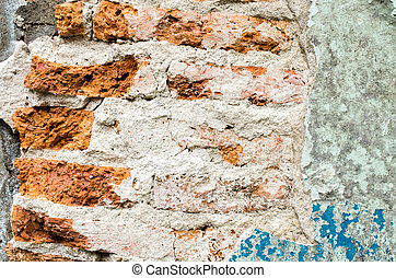 Old wall with cracked paint