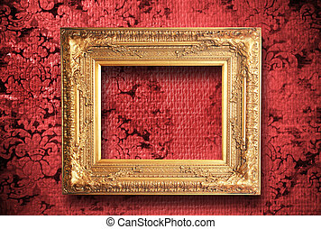 old wall with frame