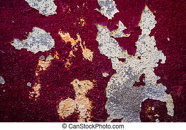 Old wall with red color background