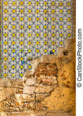Old wall with tile