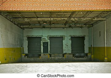 Old Warehouse Gates - Old Dirty and Grunge Warehouse Gates /...