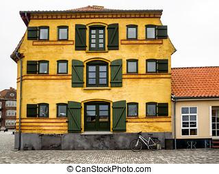 Old warehouse in Kerteminde on Funen, Denmark