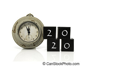 old watch counting to 2020