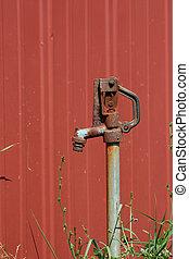A old water spigot