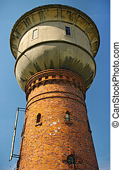 Old water tower with cistern