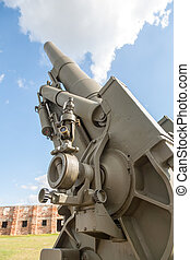 Old weapons - anti-aircraft guns, after war in Croatia
