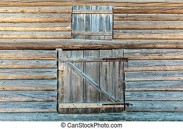 Old weathered barn doors