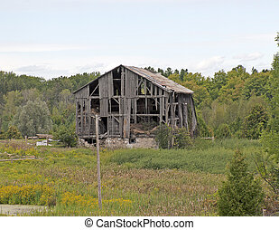 Old weathered barn in the country