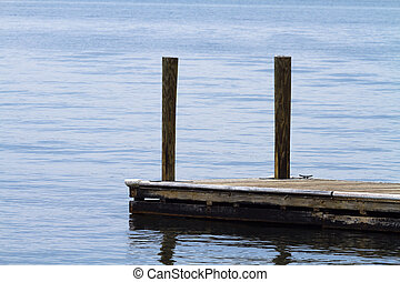 Old Weathered Boat Dock At The Lake