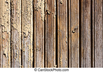 Old weathered painted wood wall background