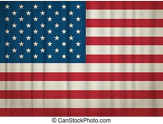 Old weathered USA flag. vector illustration