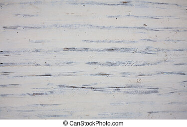 Old weathered white painted wooden texture, background