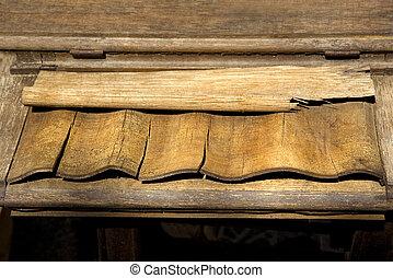 Old weathered wood.