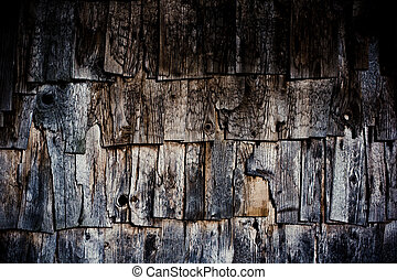 Old weathered wood shingles texture