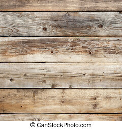 Old weathered wood wall background square format