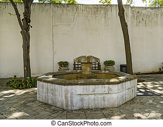 Old Well Spanish Governor's Palace San Antonio Texas. Constructed in the early 1700s by Spanish, later Mexican military garrison