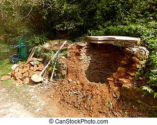 Old Well - Old well with collapsed wall in need of...