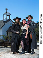 Old West Characters Pose