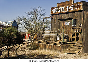 Old West Freight Depot - This is a picture of an old western...