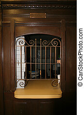 Old west post office - an antique post office window