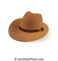Old west sheriff Cowboy hat icon.