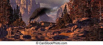 Old West Steam Locomotive - Old west stream locomotive...