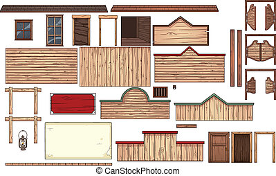 Old west town elements