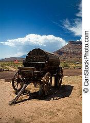 Old western water wagon