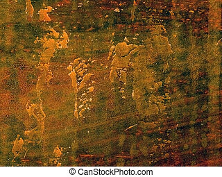 copper plate - old wethered copper plate
