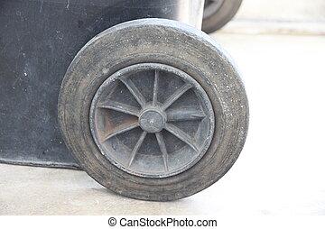 Old wheel barrow.