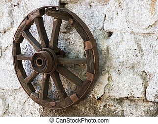 old wheel cart