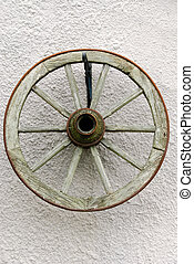 Old wheel of a cart