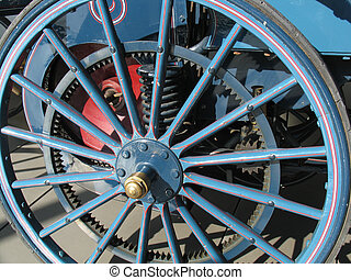 Old wheel - Wheel of a vintage car