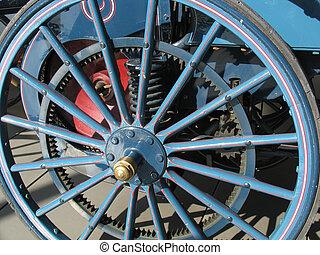 Old wheel - Wheel of a vintage car