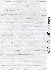 old white brick wall painted in white