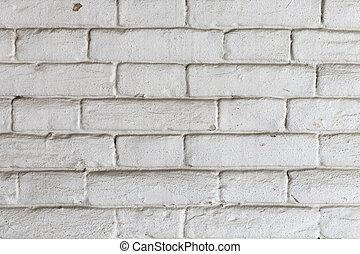 Old white brick wall.