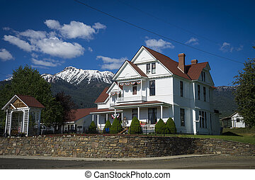 Old white house in Western United States