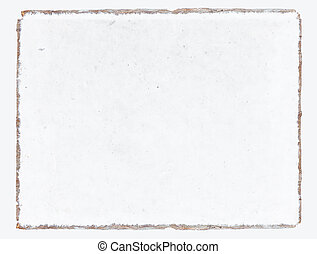 Old white mulberry paper book isolated .