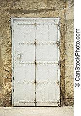 old white vintage door
