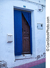 Andalusian village house door