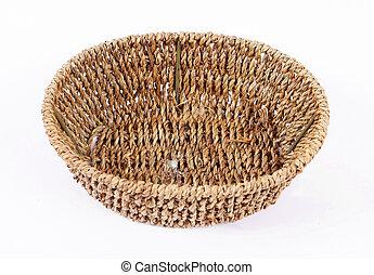 Old wicker basket