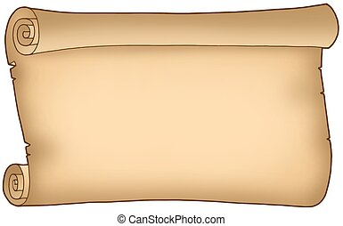 Old wide parchment - color illustration.
