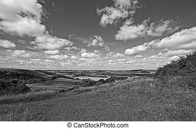 Old Winchester Hill in b&w